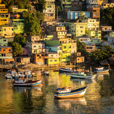 Fisherman's Boats at Sunrise - Salvador, Bahia, Brazil
