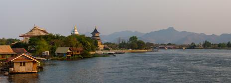 River Kwai with Temples _ Kanchanaburi