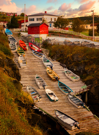 Sunset on the Boat Ramp - Pouch Cove, Newfoundland