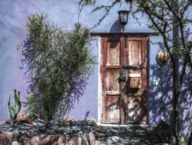 Garden Door in Blue - San Miguel de Allende, Mexico