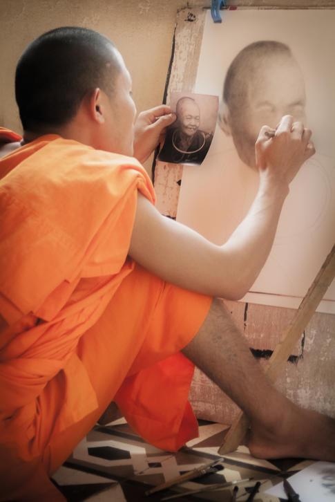 The Artist Monk - Luang Prabang, Laos