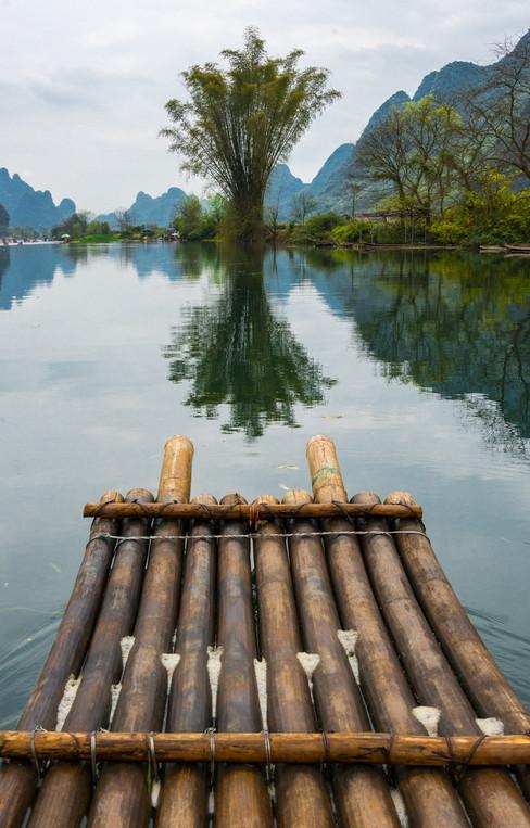 Rafting the Yulong River - Gaungxi, China