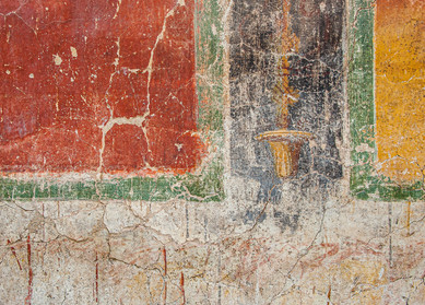 Abstract photograph of a Roman Mural in Cartagena, Andalusia, Spain