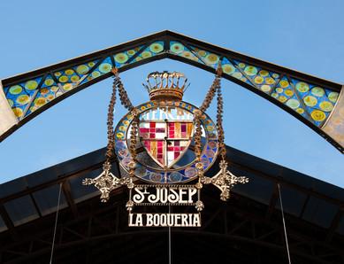 La Boqueria - An old Mercado in Barcelona, Catalonia, Spain