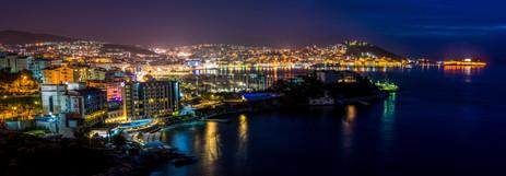 Kusadasi at Night Panorama -Kusadasi, Turkey