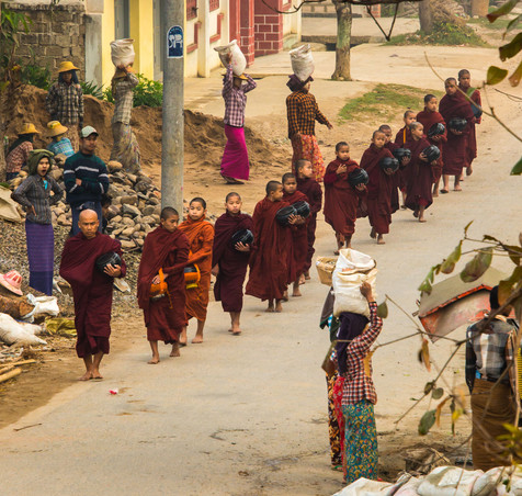 The Morning Alms Rounds - Hsipaw