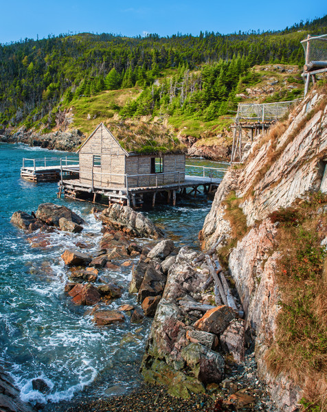 19th Century Fishing Stage - Random Passage, Newfoundland