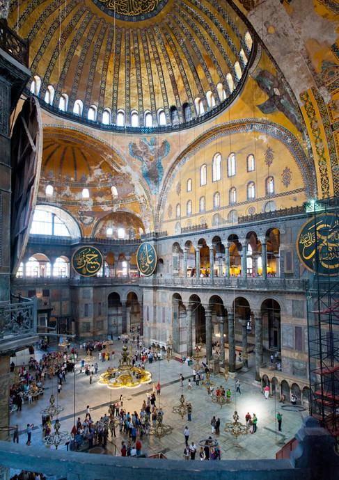 The Immense Interior of the Hagia Sophia - Instanbul, Turkey