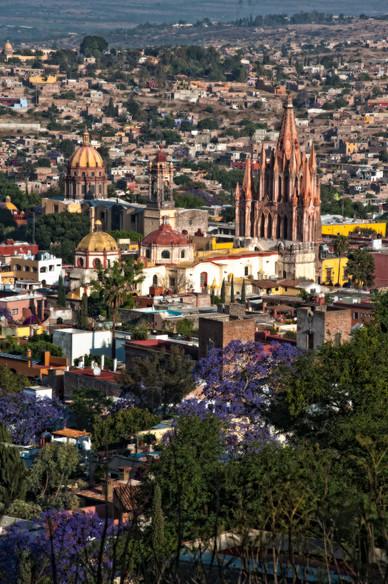 View of Centro San Miguel de Allende, Mexico