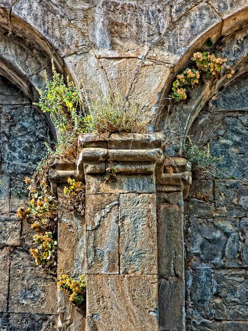 Detail of the Exterior of an Ancient Gerogian Monastery - Barhol, Yusefeli, Turkey