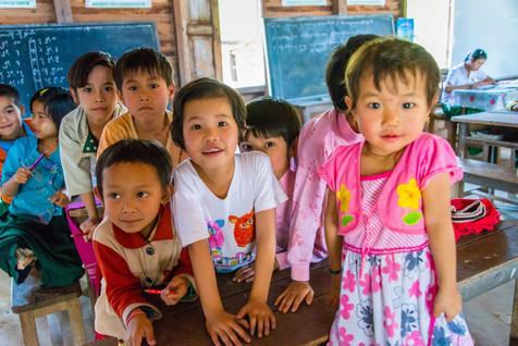 Lovely Burmese Children at School - Hsipaw