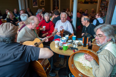 The Auntie Crea Band at Lunchtime - Along Water Street, St. John's, Newfoundland