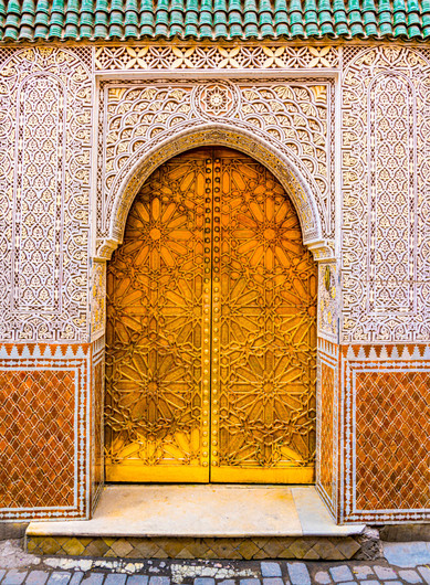 What Lies Within this Ornate Moroccan Entry - Fes Medina, Morocco