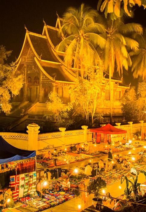 The Night Market of Luang Prabang, Laos