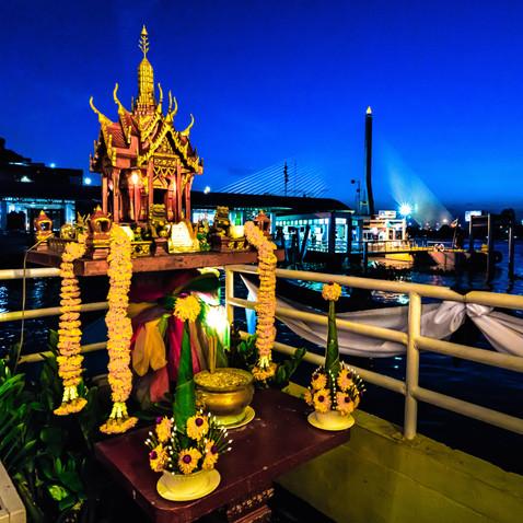 Ghost Temple Along the Chaopraya River - Bangkok