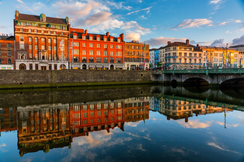 Sunset Along the Liffey - Dublin
