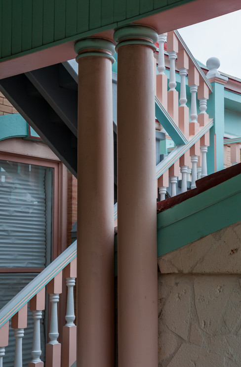 Columns and Stairs in Pastel - Key West, Florida