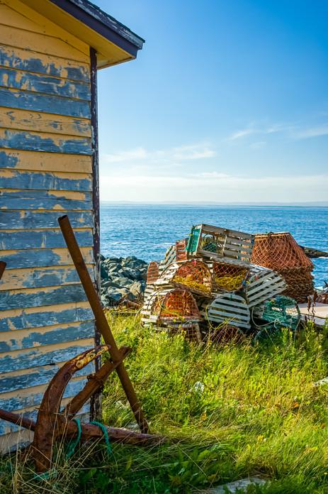 Anchor and Lobster Traps - Baulin, Newfoundland