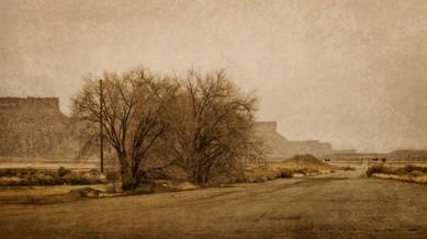 A Lonely Road Near Moab -Utah