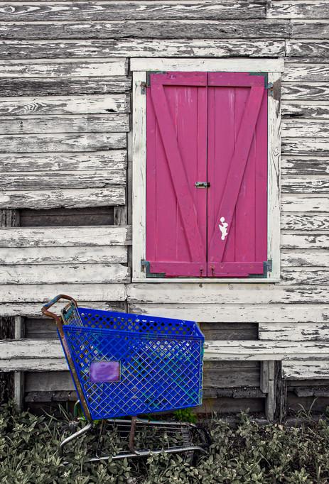 Shopping Cart and Door - Key West, Florida