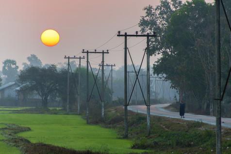 Off to Work - Thaton, Myanmar