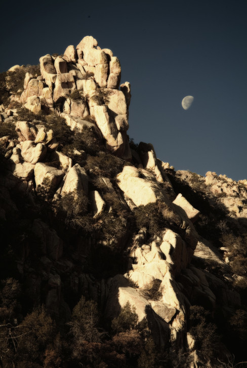 Moon and Boulders - Cochise Stronghold