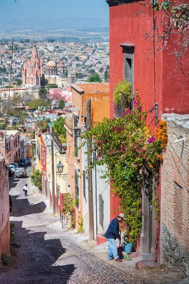 The Cobbled Streets of San Miguel de Allende, Mexico