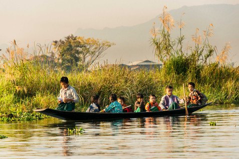 The School Bus - Inle Lake