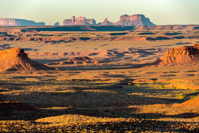 Monument Valley from the North at Sunrise - Utah