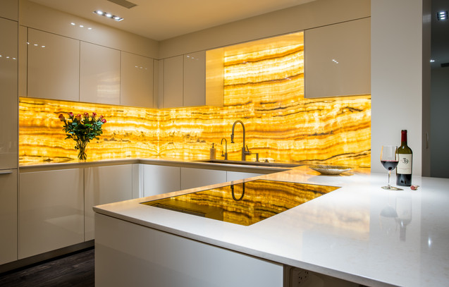 Modern Kitchen with Onyx- Vail, Colorado