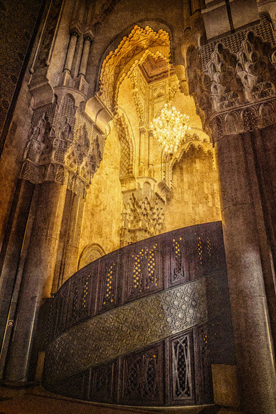 Interior of the Hassan II Mosque - Casablance, Morocco