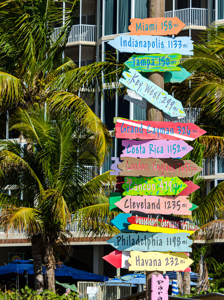 Signs to Nowhere - Fort Myers Beach, Florida