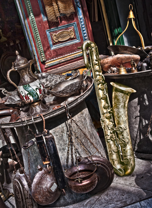 An Antique Store in the Grand Bazaar - Istanbul, Turkey