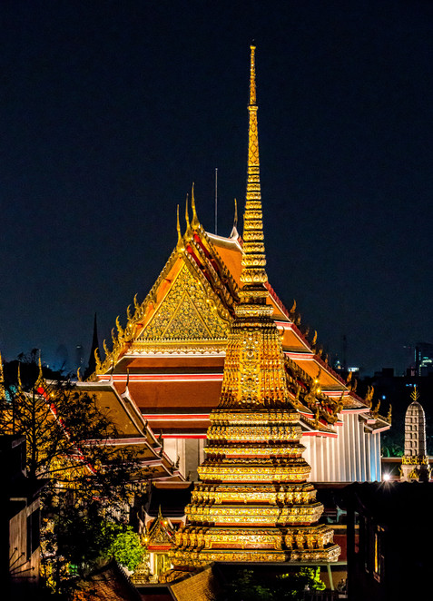 Wat Po at Night - Bangkok