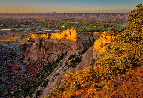 The View from Colorado National Monument at Dusk - Fruita, Colorado