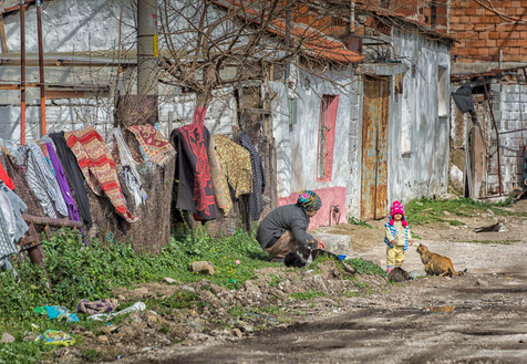 Wash Day in the Village of Bergama - Begama, Turkey