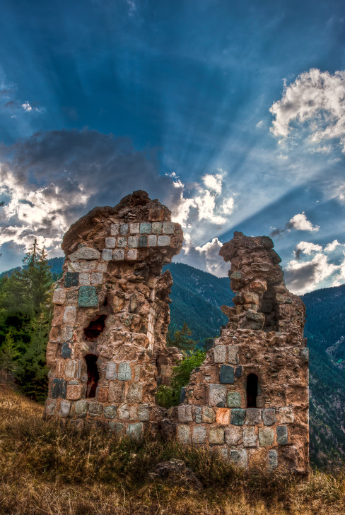The Ruins of an Ancient Georgian Church in the Mountains Above Barhol - Yusefeli, Turkey