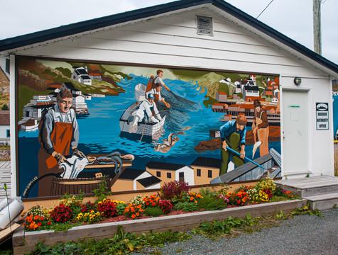 Fishing Mural - Petty Habour, Newfoundland