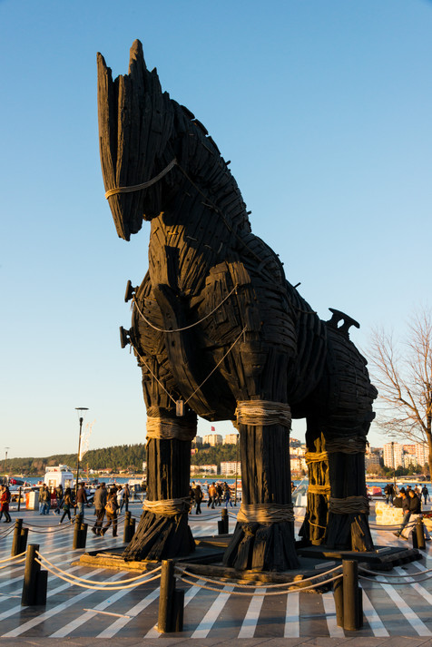 So Appropriate for Canakkale to Have Placed the Trojan Horse from the Movie Troy on Their Waterfront - Canakkale, Turkey