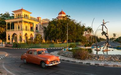 Dawn Traffic Along the Streets of Cienfuegos - Cienfuegos, Cuba
