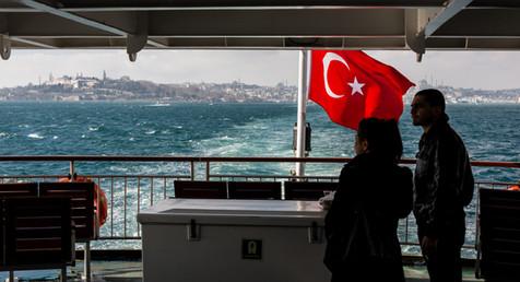 On the Bosphorus Ferry from Eminonu to Uskadar - Istanbul, Turkey