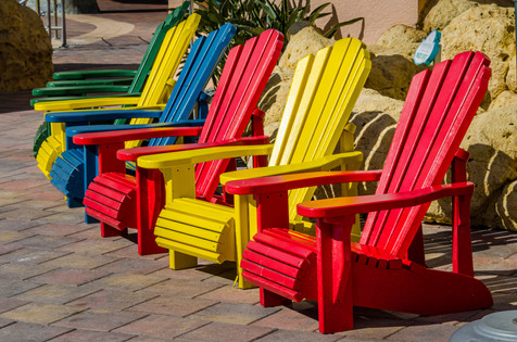 Colorful Adirondacks - Fort Myers Beach, Florida