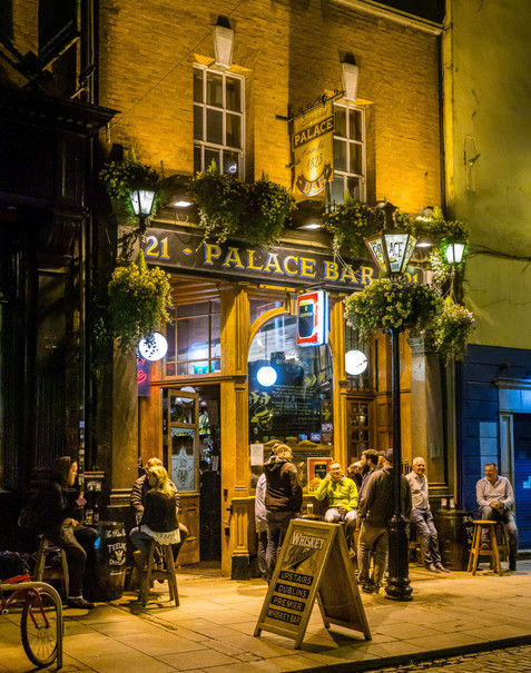 The Palace Bar at Night - Dublin