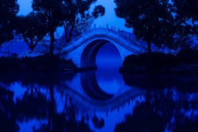 Bridge at Dawn - West Lake, Guilin, China