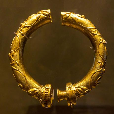 Golden Celtic Torque - National Museum of Ireland, Dublin