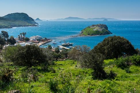 The Coastline Along the Adriatic Bodrum Penisula - Gumusluk, Turkey