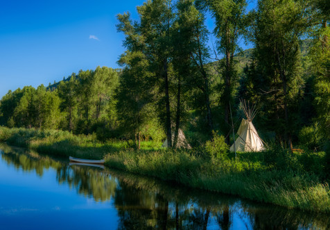 Encampment Along the Elk River - Steamboat Springs, Colorado