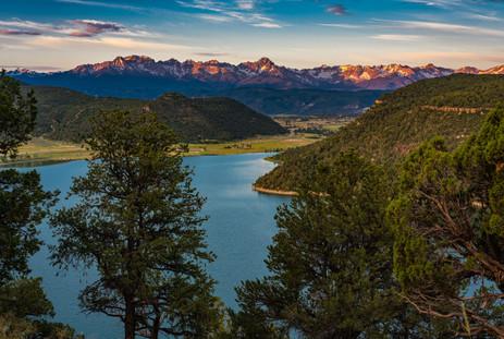 The San Juans at Dusk - Ridgway State Park, Colorado