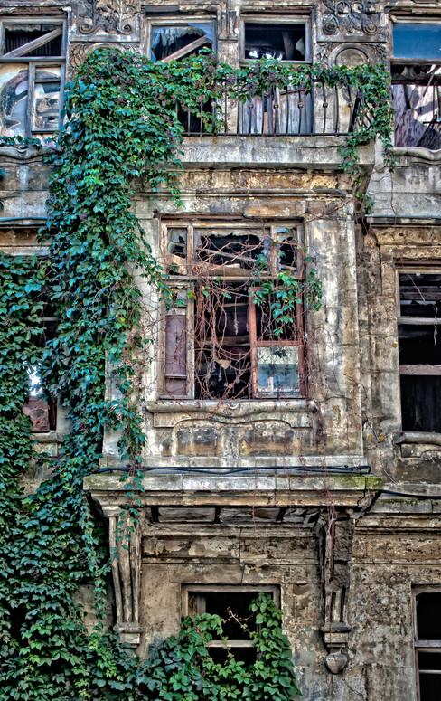 Facade of an Old Ottoman House Along Cucurcuma - Beyoglu, Istanbul, Turkey