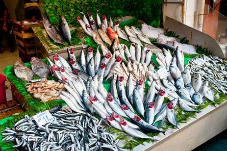 Fishmongers Display - Beyoglu, Istanbul, Turkey